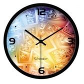 創意時鐘-個性時尚炫彩靜音藝術壁鐘3色72z20[時尚巴黎]