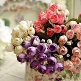CARMO玫瑰仿真花塑膠花(單束) 假花 【FL017001】
