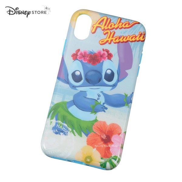 日本限定 DISNEY STORE 迪士尼 史迪奇 Aloha 夏威夷 iPhone X 手機保護殼套