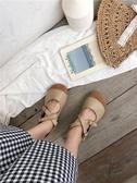 夏季復古文藝單鞋女平底森女系奶奶鞋女圓頭軟底醜萌娃娃鞋女 潮流前線