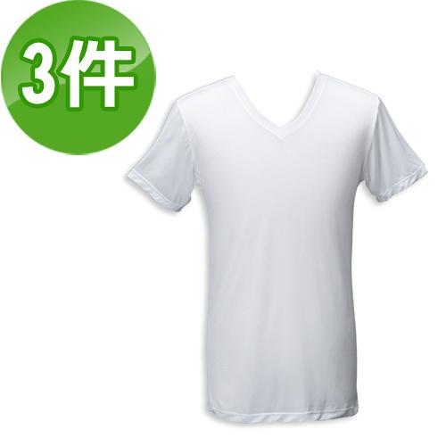 《台塑生醫》Dr's Formula冰晶玉科技涼感衣-男用短袖款(白)三件/組