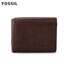 FOSSIL Ingram 深棕色真皮RFID短夾 男 ML3255200