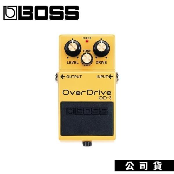 【南紡購物中心】BOSS OD-3 破音效果器 具超長延音、自然的 OVERDRIVE 電吉他單顆效果器