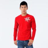 BigTrain 鯉魚水波長袖T-男-紅-Z20229