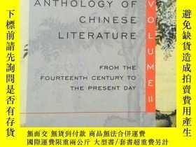 二手書博民逛書店Anthology罕見Of Chinese Literature