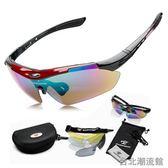 高清炫彩偏光騎行眼鏡 山地自行車防風沙鏡戶外運動眼鏡