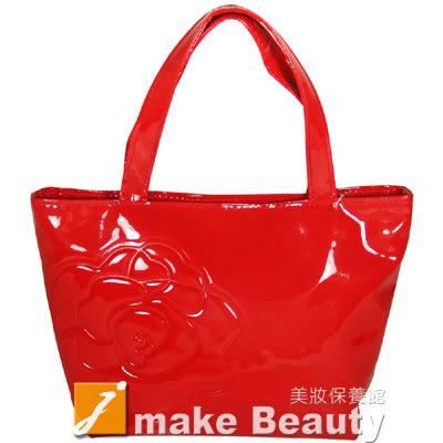 SHISEIDO資生堂 紅艷山茶花亮面手提包(20*8*18cm)《jmake Beauty 就愛水》