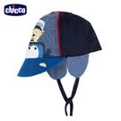 chicco- 城市噗噗車-拼接印圖護耳帽
