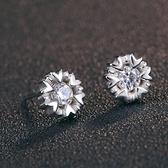 耳環 925純銀鑲鑽銀飾-雪花清新生日情人節禮物女飾品73dy72[時尚巴黎]