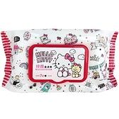 小禮堂 Hello Kitty 抑菌濕紙巾包 70抽 (插畫款) 4715664-50370