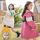 女童秋裝外套2020新款百搭秋冬中大童洋氣兒童小女孩中長款風衣潮 快速出貨
