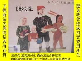 二手書博民逛書店【罕見】1954年出版少見版《感恩節的故事》海倫休厄爾的 精美木