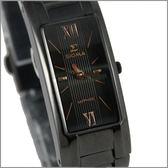 【萬年鐘錶】SIGMA 全黑金字時尚腕錶 5812LBRG