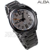 ALBA雅柏錶 個性時尚 酷潮流 日期顯示窗 防水錶 不銹鋼 男錶 AS9J61X1 VJ42-X287SD