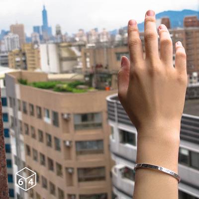 訂製刻字手環/手鐲  經緯度 手環(小) 英文 文字 999純銀C型手環-64DESIGN