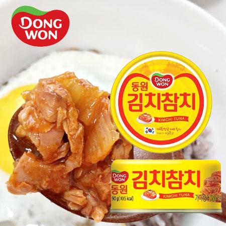 韓國 DONGWON 東遠 泡菜鮪魚罐頭 90g 泡菜鮪魚 泡菜鮪魚罐 鮪魚罐 罐頭 即食 露營 野餐 吐司