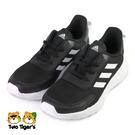 ADIDAS TENSAUR RUN K 鞋帶款 中大童 慢跑鞋 黑 NO.R7000(EG4128)
