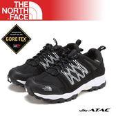 【The North Face 男 GORE-TEX低筒登山健行鞋《黑/白》】A2X8/登山/健行/防水/透氣