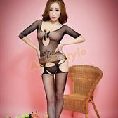 開襠網襪 性感睡衣 情趣服 角色扮演 情趣用品 花漾蝴蝶網襪貓裝『金鼠報喜』