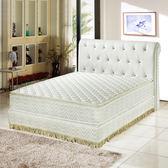 【睡芝寶】正三線3M防潑水透氣涼蓆護背床墊雙人5尺