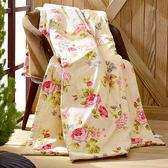 〔涼夏特惠〕義大利La Belle《優雅玫瑰園》純棉吸濕透氣涼被(5x6.5尺)