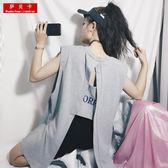 女裝2019新款潮背心外穿超火cec無袖T恤女小心機漏後背性感上衣夏 台北日光
