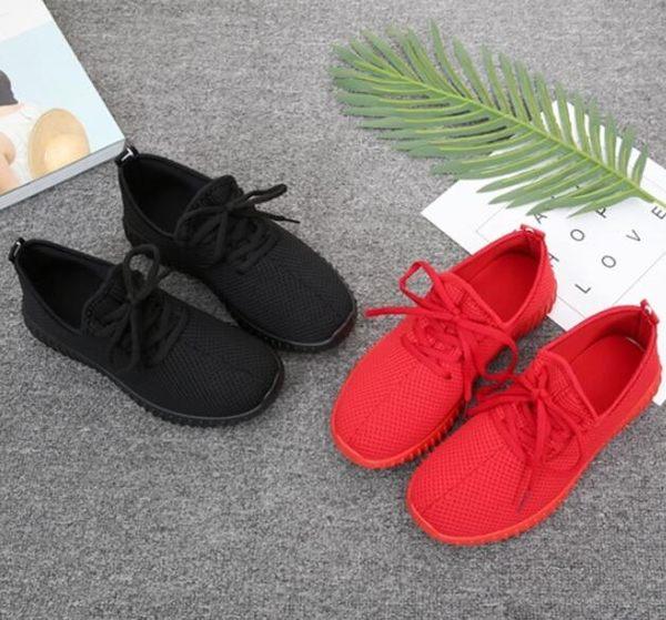 休閒鞋女透氣網鞋休閒運動飛織椰子女鞋防滑軟底 貝芙莉女鞋