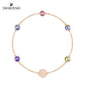 施華洛世奇 Remix Collection Purple 瑰麗迷人多色設計鍍玫瑰金色飾鏈