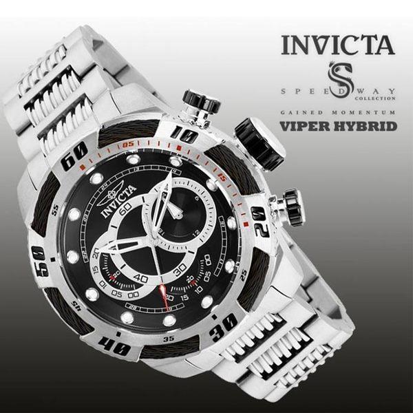 【INVICTA】新一代極致繩索腕錶 鋼鍊款 52mm - 黑銀款