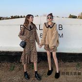 大碼女裝洋氣連身裙微胖網紅兩件套裝顯瘦【時尚大衣櫥】