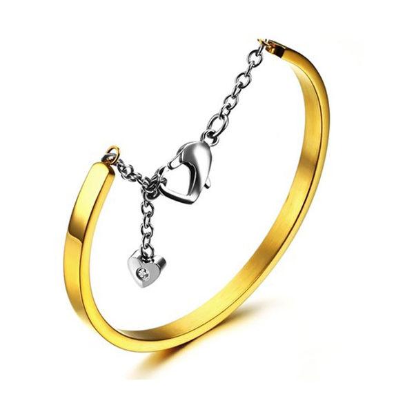 【5折超值價】 最新款時尚精美簡約純色造型女款鈦鋼手環