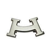 HERMES 愛馬仕 H-smile 銀色胸針 【二手名牌BRAND OFF】