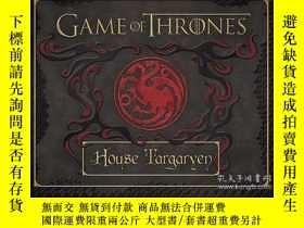 二手書博民逛書店Game罕見of Thrones: House Targaryen Deluxe Stationery Set