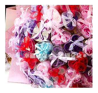 幸福朵朵【三朵香皂花棒(混色,共36支入)花束】婚禮小物二次進場/情人節求婚告白