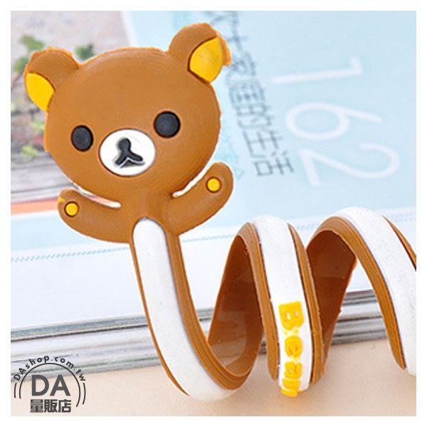 動物造型 繞線器 收線器 捲線器【辦公任選3件88折】集線器 方便收納 可愛 棕色熊(79-0298)