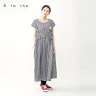 a la sha 抽縐長版洋裝