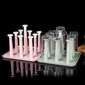 水杯瀝水架水杯掛架茶杯架收納架瀝水杯架 水杯架子置物架瀝水盤汪喵