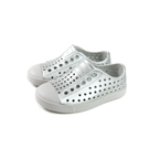 native JEFFERSON METALLIC 懶人鞋 洞洞鞋 金屬銀 小童 童鞋 13100117-1904 no753