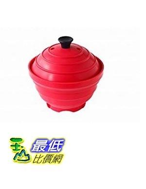 [東京直購] 旭金屬 Metorefuranse B009QZZQUO 紅色 微波煮飯碗 Japonais Rice Steamer