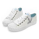 PLAYBOY 潮流簡約 帆布餅乾鞋-白(Y5212)