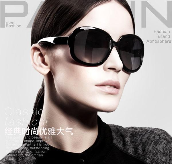 新款偏光時尚太陽眼鏡 女大框復古潮墨鏡 駕駛太陽眼鏡