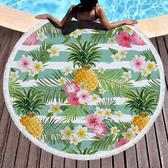 沙灘巾毛巾布 水果 幾何 印花 流蘇 野餐巾 海灘巾 圓形沙灘巾 150*150【YC027】 BOBI  04/03