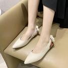 包头凉鞋女2021夏季新款百搭尖头后空平底奶奶鞋舒适软底温柔单鞋 『新佰數位屋』