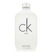 Calvin Klein CK ONE中性淡香水200ml無盒版【QEM-girl】