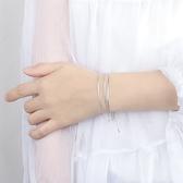 925純銀三層蛇骨手鍊女  【新飾界】