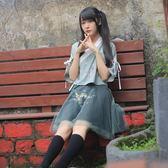 漢元素古風上衣新款短裙漢服套裝風古裝學生日常改良女裝