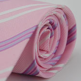 【Alpaca】粉白紫斜紋領帶