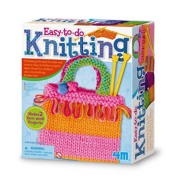【4M】02753 美勞創作-彩虹編織袋 Knitting Art