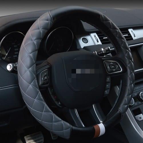 拚接方向盤皮套 PU皮  三菱 PORSCHE OPEL PEUGEOT BMW BENZ HINO HONDA 沂軒精品 A0205