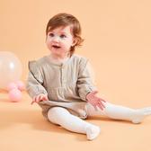 皺皺質感三角長袖包屁衣 連身衣 爬爬服 嬰兒裝 哈衣
